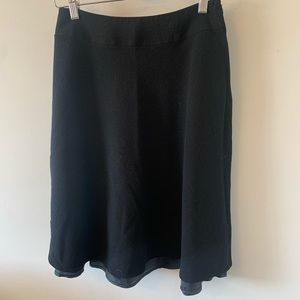 Wool / Black / Lined / A-line / Skirt